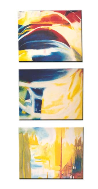 yellow and blue painting